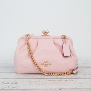NWT Coach Nora Kisslock Crossbody In Leather